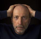 Senior bald bearded man headshot Royalty Free Stock Photography