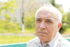 Senior Bald Man Stock Image