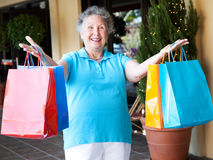 Senior Bargain Shopper Stock Photos