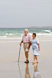 Senior Beach Walk Royalty Free Stock Photography