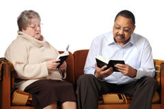 Senior Bible Study Stock Photography