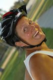 senior bicyclist Fotografia Stock