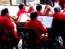 Senior big band. Big band is performing Royalty Free Stock Photography