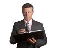 Senior with book Stock Photography