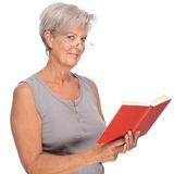 Senior with book Royalty Free Stock Photo
