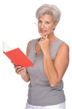 Senior with book Royalty Free Stock Images