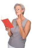 Senior with book Stock Photos