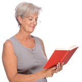 Senior with book Royalty Free Stock Image