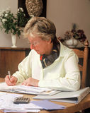 Senior Bookkeeping Royalty Free Stock Image