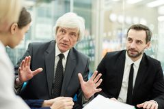 Senior Boss in Meeting stock photography