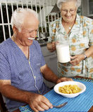 Senior breakfast. Stock Image