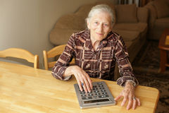 Senior budget Stock Images
