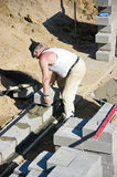 Senior builder Stock Image