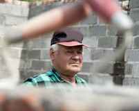 Senior builder portrait Stock Images