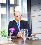 Senior Business Executive Attending Function Royalty Free Stock Image