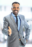 Senior business man. Portrait of a handsome successful business man busy working Royalty Free Stock Photo