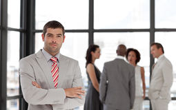 Senior Business Man with arms folded Royalty Free Stock Photo