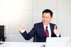 Senior business man asia with Business Group Meeting Discussion Strategy Working Concept stock photo