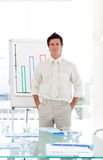 Senior Business man completing presentation Stock Photography