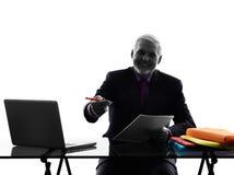Senior business man contract signing proposal Royalty Free Stock Photos