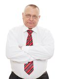 Senior business man with crossed arms Royalty Free Stock Image