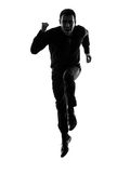 business man running silhouette Royalty Free Stock Photos