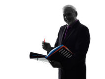 Senior business man filing files documents Stock Photo
