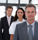Senior Business man in Front of team Royalty Free Stock Images