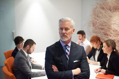 Senior business man with his team at office Stock Images
