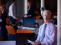 Senior business man with his team at office Stock Image