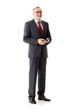 Senior business man laughing. Mature business man laughing, isolated stock photos