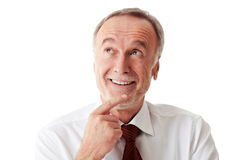 Senior business man looking up Stock Image