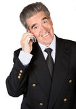 Senior business man on the phone Stock Images