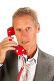 Senior business man at the phone Stock Images