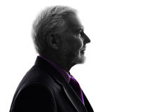 Senior business man silhouette Royalty Free Stock Images