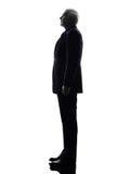 Senior business man silhouette Royalty Free Stock Image