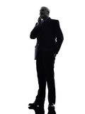 Senior business man silhouette Royalty Free Stock Photos
