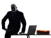 Senior business man silhouette Stock Photo