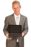 Senior business man with tablet Stock Image