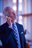 Senior business man talk on mobile phone Royalty Free Stock Photography