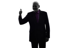 Senior business man Thumb Up silhouette Stock Image