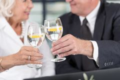 Senior business pair celebrating Royalty Free Stock Photo