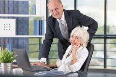 Senior business people at work Stock Photo