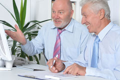 Senior Business people working together Stock Image