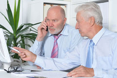 Senior Business people working together Stock Images