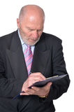 Senior business person. Posing against white background Royalty Free Stock Photography