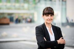 Senior business street woman portrait Stock Photography