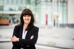 Senior business street woman portrait Stock Images
