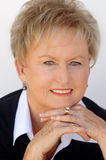 Senior business woman stock image