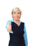 Senior business woman giving thumbs Stock Photos